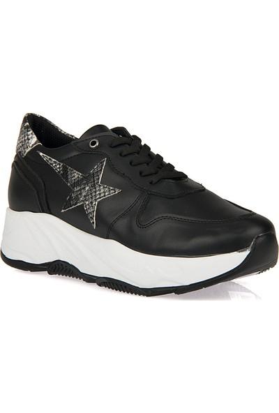 Uniquer Kadın Ayakkabı 9176U 1245 Siyah - Yılan