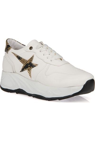Uniquer Kadın Ayakkabı 9176U 1245 Beyaz
