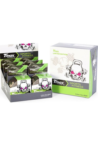 Tmax Tape Kinesio Acı bandı Kamuflaj Yeşili 5 Metre X 5 Cm