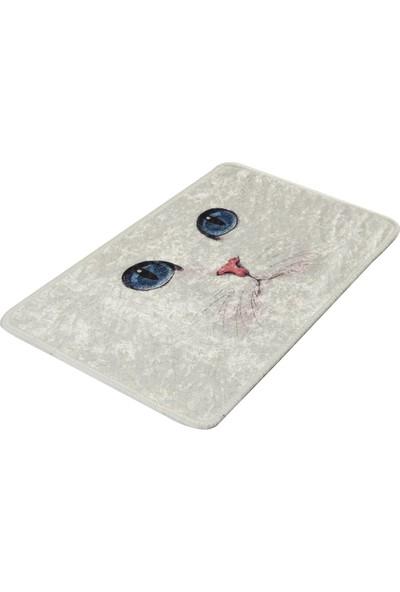 Blue Eyes Djt 40X60 Cm Banyo Halısı Paspas