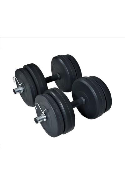 Powerbull 40 Kg Dambıl Seti Dumbell Set Ağırlık Fitness Halter Spor Aleti