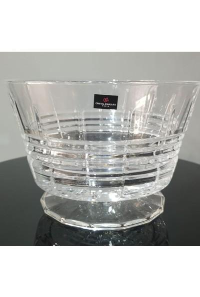 Crıstal D'Arques Rendez 22 cm Ayaklı Kristal Salata Servis Kasesi