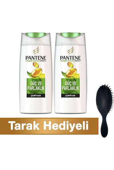 Pantene Şampuan Doğal Sentez Güç ve Parlaklık 700 ml + 700 ml (TarakHediyeli)