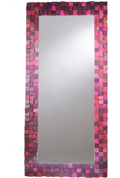 Jizayn Dekoratif Ahşap Boy Aynası