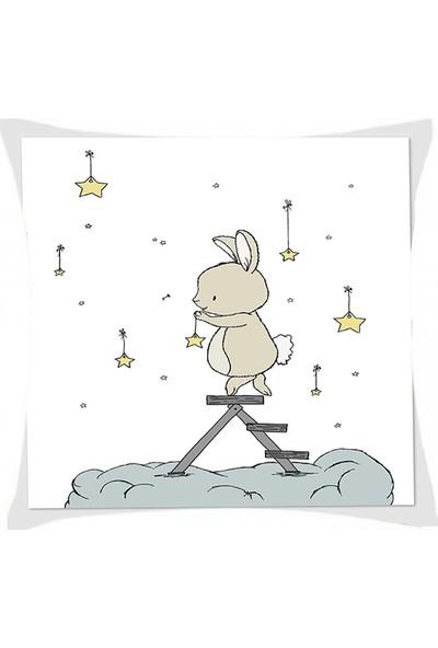 Consepthome Chk-70 Tavşan Ve Yıldızlar Kırlent