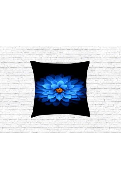 Consepthome Ch-Md009 Mavi Çiçekli Kırlent