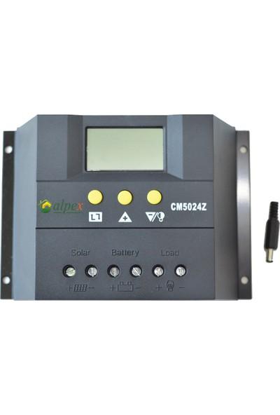 Alpex 60 Amper Pwm Solar Şarj Kontrol Cihazı