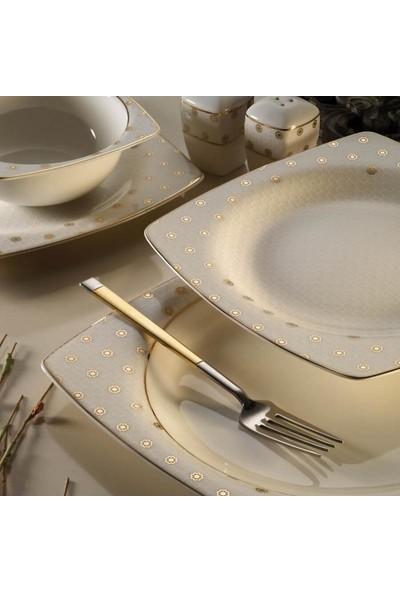 Kütahya Porselen Bone Mare 62 Parça 10365 Desenli Yemek Takımı
