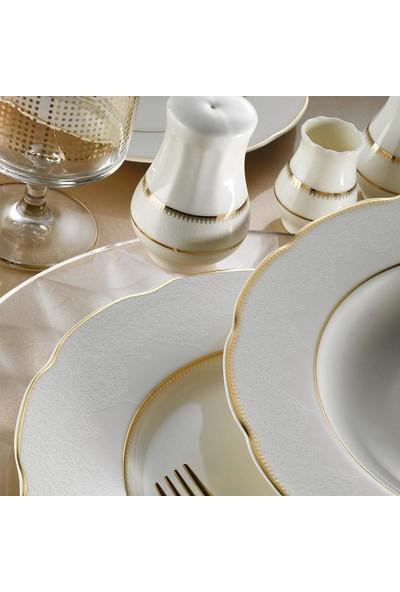Kütahya Porselen Bone Olympos 53 Parça 9825 Desenli Yemek Takımı
