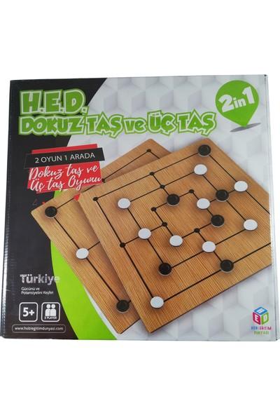 Hobi Eğitim Dünyası Zeka Mantık ve Strateji Oyunu 9 Taş 3 Taş
