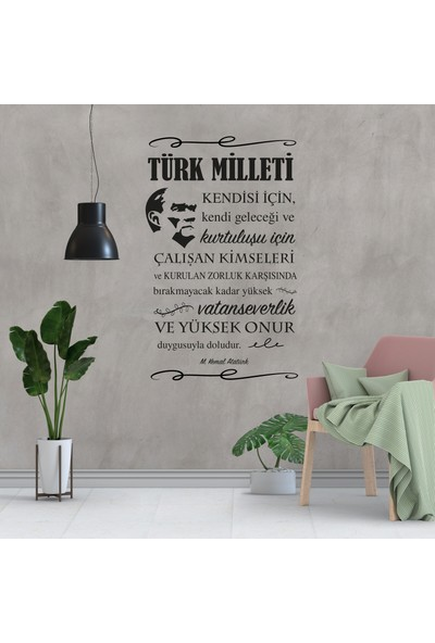 Atatürk Duvar Sticker