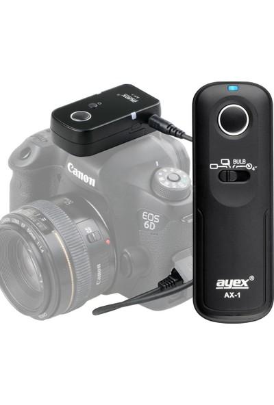 Canon 80D, 77D, 70D, 60D, M5, M6 İçin Ayex Ax-1 E3 Kablosuz Kumanda
