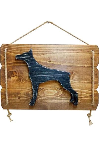 Tahta Dekor Köpek Figürlü Masif Ahşap Dekoratif Tablo