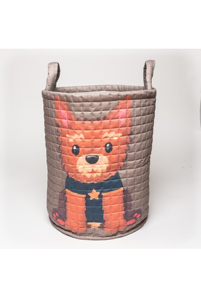 Mimiko Köpecik Desenli Oyuncak ve Çamaşır Sepeti
