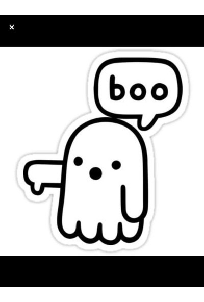 Areksan Boo Duvar Sticker 13cm