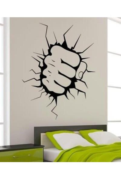 Areksan Çatlak Yumruk Efektli Duvar Sticker