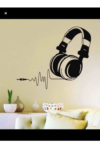 Areksan Music Dj Kulaklık Duvar Sticker 50 cm