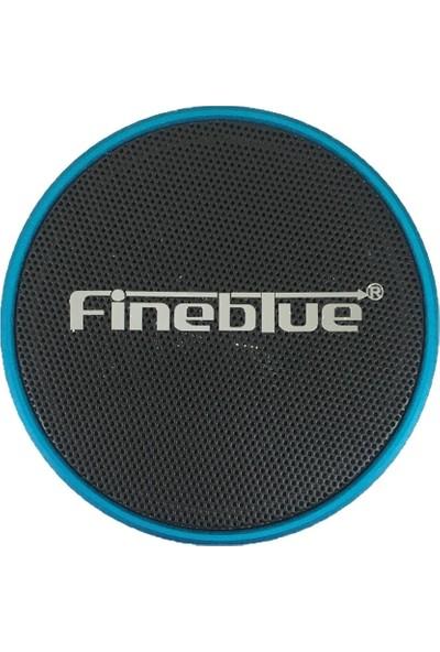 Fineblue Bluetooth Bass Speaker Aux+Hafıza Kartı Bs01 Mavi