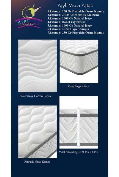 Midilife Smartbed Coton Yaylı Visco Yatak 90X150 Cm