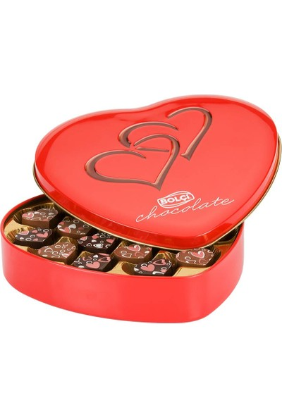 Bolçi Metal Kutulu Kalpli Çikolata 240 gr