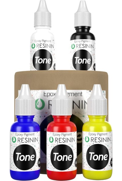 Resinin Tone Ana Renkler 5X20 Gr Epoksi Renklendirici Renk Pigmenti