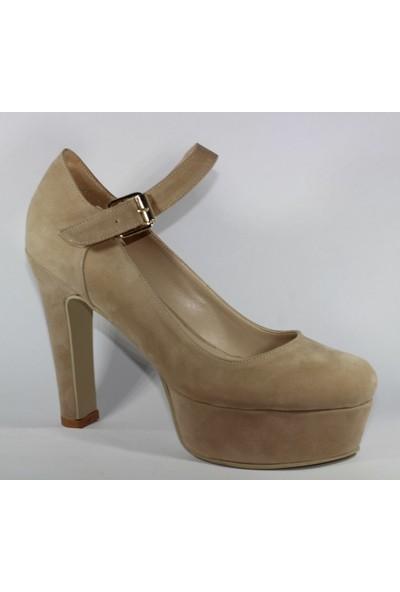 Almera 080-19P Süet Kadın Günlük Ayakkabı