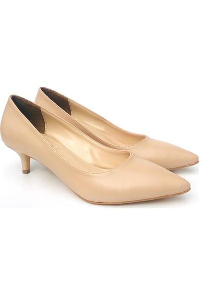 Sothe ELF-1730 Ten Deri Bayan Kısa Topuklu Ayakkabı