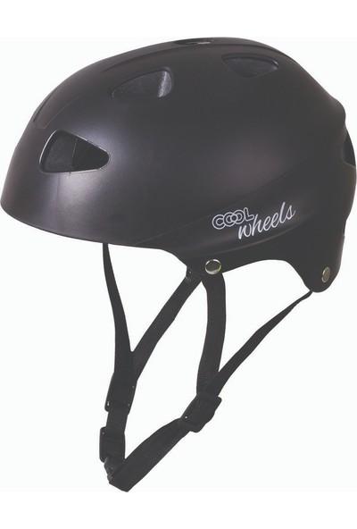 Canex Cool Bisiklet Paten Kaykay Koruma Kaskı Kemik Siyah