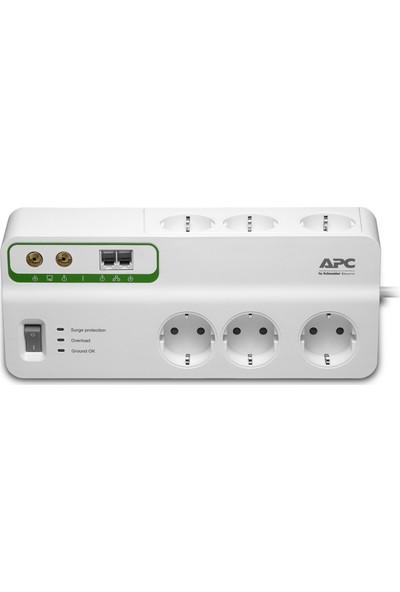 Apc Ev/Ofis Surgearrest 6 Çıkış, Telefon Ve Koaks Koruma 230V