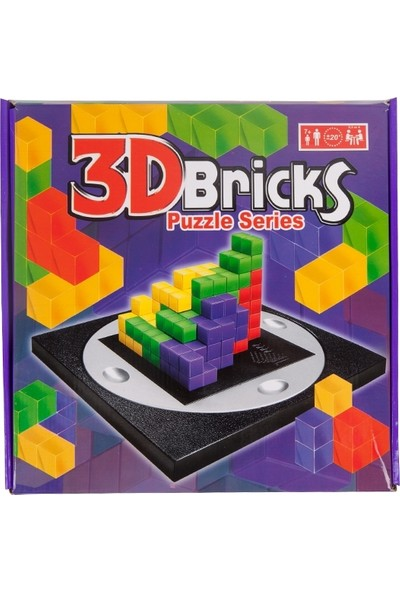 Hobi Eğitim Dünyası Puzzle Zeka Oyunu 3D Bricks