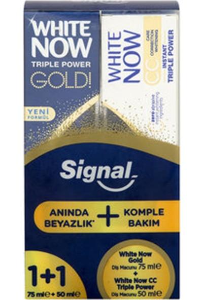 Signal White Now Gold Diş Macunu 75 ml + White Now CC Triple Power Diş Macunu 50 ml