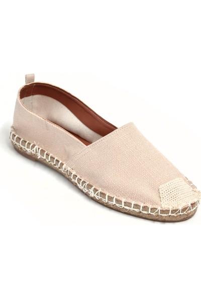 Kadın Espadril Ayakkabı Toz Pembe