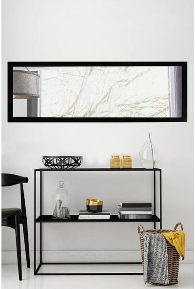 Tablo Center 37x97cm SiyahÇerçeveli Yatay Ayna