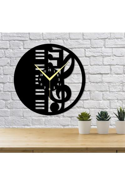 Homecept Piano Ve Müzik Notası Temalı Duvar Saati