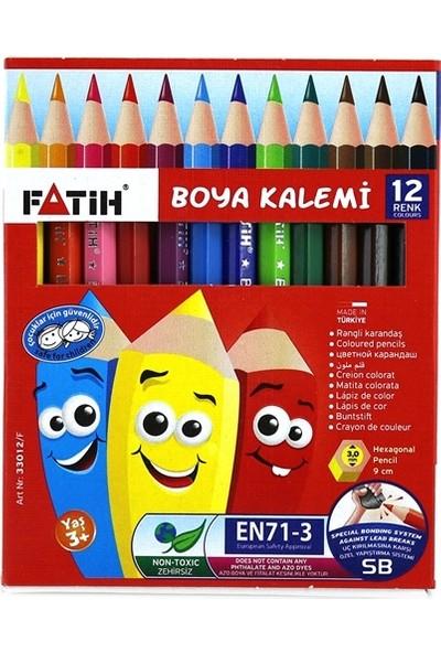 Fatih Kuru Boya 12 Renk Yarım Boy