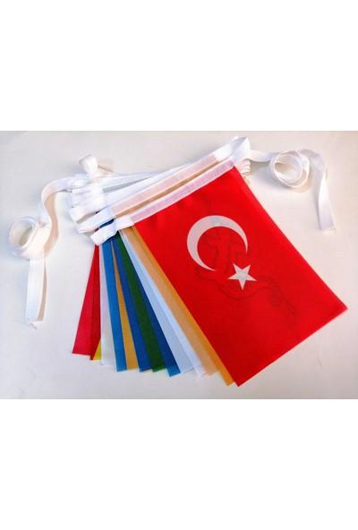Bayrakal Eski Türk Devletleri 17Li Dizili Bayrak 20X30Cm.