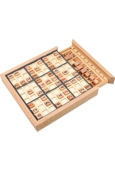 Sudoku Game Ahşap Sudoku Oyunu Çekmeceli Ahşap Kutulu