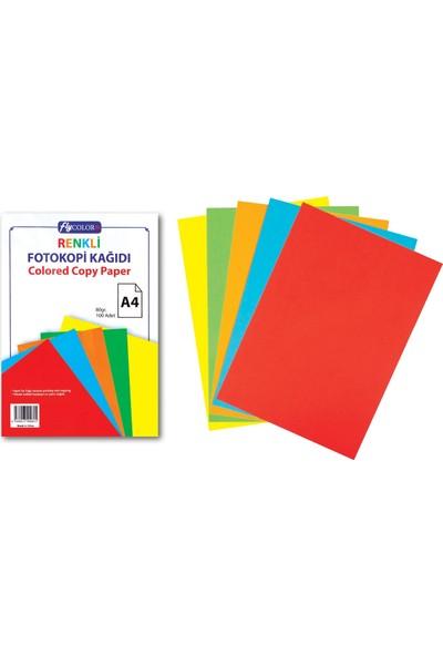 Fly Color A4 Renkli Fotokopi Kağıdı 50' Li