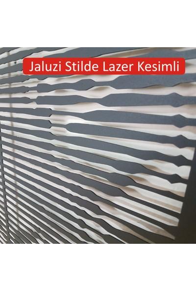 Gradekor Metal Tablo Jaluzi Stil Lazer Kesimli 1,5 mm Kalınlık 50 x 108 cm Ebat