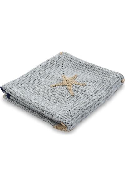 Jale Gri Yıldız Bebek Battaniye