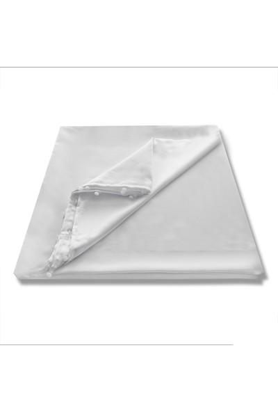 Caserta Home Lüx Atlas Saten Beyaz Güneşlik Perde 200x260