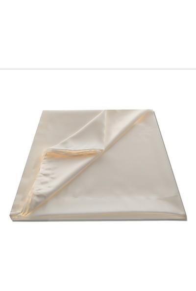 Caserta Home Lüx Atlas Saten Krem Güneşlik Perde - 50x210 cm