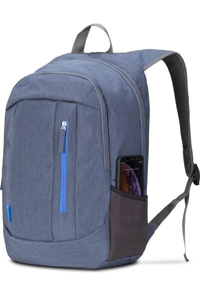Classone BP-S363 15,6 inç Notebook Sırt Çantası-Mavi