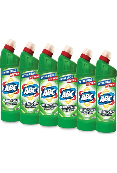 ABC ultra Çamaşır Suyu 810 gr Dağ Rüzgarı 6'lı Paket
