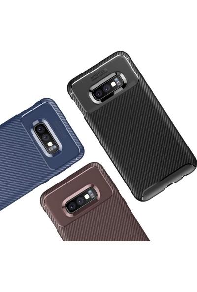 Kılıfshop Samsung Galaxy S10E Kılıf Silikon Negro Karbon Darbe Korumalı