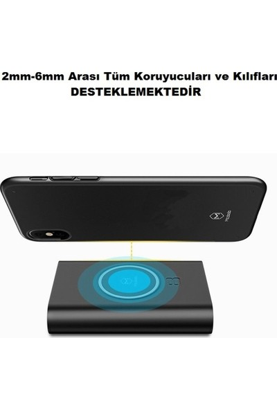 Mcdodo Ch-4851 İPhone X Qi 8000Mah Kablosuz Wireless Powerbank