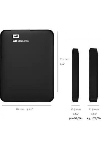 Wd Elements 500Gb 2.5' Usb 3.0 Taşınabılır Harıcı Dısk Portable