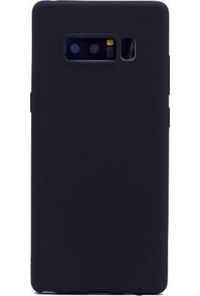 Jopus Samsung Galaxy Note 8 Mat Premium Silikon Kılıf - Siyah + Full Body Ekran Koruyucu
