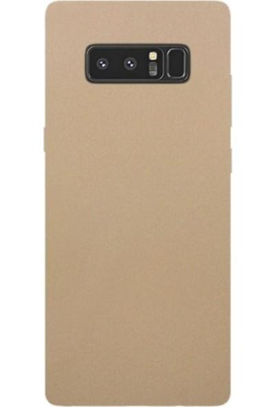 Jopus Samsung Galaxy Note 8 Mat Premium Silikon Kılıf - Gold + Full Body Ekran Koruyucu