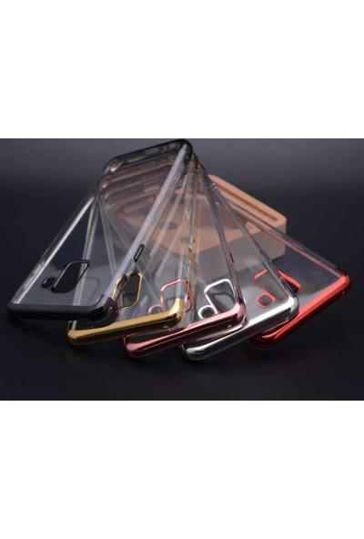 Jopus Huawei P30 Pro Dört Köşe Renkli Şeffaf Lazer Silikon - Gümüş